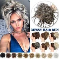 X-LARGE Messy Bun Hair Piece Scrunchie Updo Wrap Hair Extension as Human Bun US