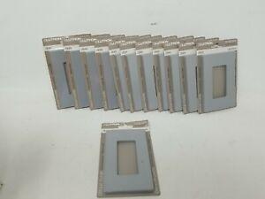 Lot of 12 Lutron Gray Screwless Designer 1-Gang Wallplate GFCI Gloss CW-1-GR