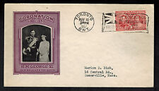 1937 Toronto Canada first day cover Coronation Cachet Fdc Kgvi King george 6