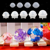 9 Sizes Silicone Sphere Ball Mold Resin Casting DIY Ornament Mould 20-100mm