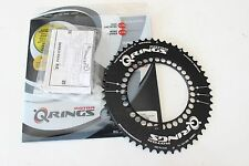 New Rotor Q-Ring Aero Oval Chainring 52T 130 BCD Black Road Bike TT Tri 5-Bolt
