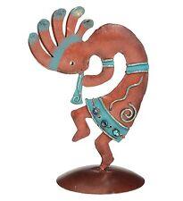 Kokopelli Dancer Southwest Decor Sculpture Metal & Beads Regal Art & Gift New