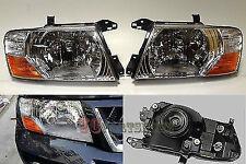 Mitsubishi Pajero Montero Left and Right Set front head lamps lights 2000-2006