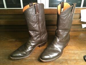 Nocona Men's Chocolate Brown Western Leather Boots - Size 11.5D Style 8113 Nice!