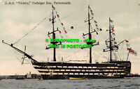 R539903 H. M. S. Victory. Trafalgar Day. Portsmouth. Eyre and Spottiswoodes. Woo
