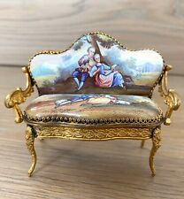 Antique French/Austrian Style Enameled Miniature Furniture Royal - Beautiful!!!