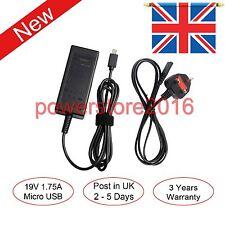 Asus Vivobook E200 E200H E200HA 19V 1.75A 33W Laptop AC Adapter Charger UK