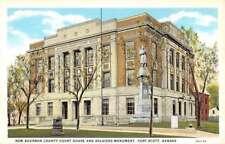 Fort Scott Kansas New Bourbon Court House Antique Postcard K84688