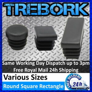 Round & Square & Rectangle Plastic End Caps Bungs Plugs Tubes Inserts Feet Chair