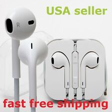 Headphone Earbods Headset with Mic and Volume Control for Mp3 4 Pc Tablets (Wht)