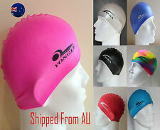 Waterproof Men Women Adults Silicone Swimming Cap Hat 100% Silicone SMC01