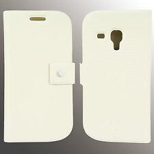 FENICE Diario Samsung Galaxy S III Mini Premium Italian PU Leather Case - White