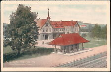 HERSHEY PA YWCA Y W C A & Railroad Depot Stop Vintage Postcard Old YMCA