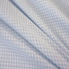 Stoff Meterware Vichykaro Vichy Karo hellblau weiß Baumwolle kariert 2 mm Mini