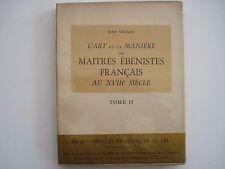 L'Art et la Maniere des Maitres Ebenistes Francais/Vol 2 Nicolay inv388
