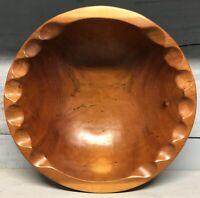 Grand Plat Coupe a Fruit Bois Primitif Primitive Design Vintage Wood Cup