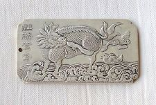 China .750 Silver (stamped) amulet/thanka (token) - Kylin (Qilin) - end 19th.C