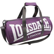 New LONSDALE BARREL GYM Sports Training BAG Holldal mens womens [Purple/White]