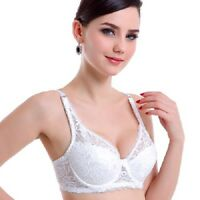 Women Lingerie Deep V Push Up Bra 3/4 Cup Lace Underwear Bralette Underwire Bras