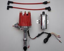 Small Cap BUICK 300 340 350 64-80 PRO SERIES RED HEI Distributor + Chrome Coil