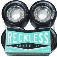 Reckless Ikon Roller Skate Roller Derby Wheels 4 Pack - Black 62mm x 38mm 88A