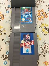 NES SPORTS BUNDLE 2 Games! World Class Track Meet And Ice Hockey