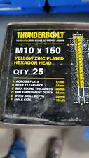 Thunder Bolts Hex Head  Concrete Screw Fixing Anchor - M10x150mm - Box of 25