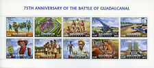 Solomon Islands 2017 MNH WWII WW2 Battle of Guadalcanal 10v M/S Military Stamps