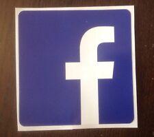 12CM FACEBOOK PRINTED FULL COLOUR STICKER CAR VAN BUSINESS SOCIAL MEDIA