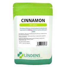 Cinnamon 2000mg 100 Tablets Blood Sugar Digestive Health weight loss Lindens UK