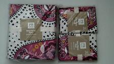 Pottery Barn Teen Retro Paisley Full Queen Duvet Cover & 2 Std Shams Pink NIP