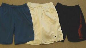 "3 Nike Basketball long athletic dri fit shorts mens medium 30 - 35"" waist"