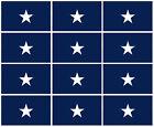 3x5 Inch BONNIE BLUE Flag Decal Sticker - 12 PACK