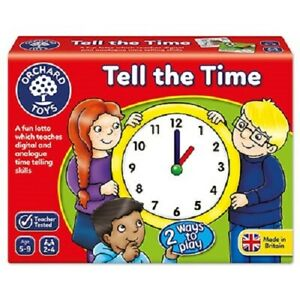 TELL THE TIME -  ORCHARD TOYS childrens maths game learning resource Age 5-9