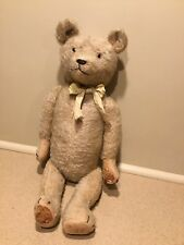 "Antique 23"" Mohair Jointed Teddy Bear Stuffed Excelsior German Steiff ? Vintage"
