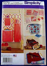 Simplicity Crochet Knit Accessories Tote Bag Pattern Storage Case Organizer 1079