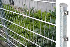 20m Metall Zaun Höhe 83 cm Farbe verzinkt Doppelstabgittermattenzaun