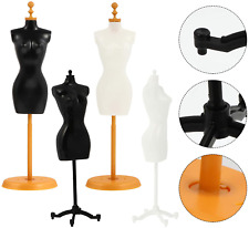 Sewing Dressmakers Female Mannequin Torso Mannequins with Base Stand (4 Pcs)