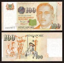 SINGAPORE 100 Dollars w/2 Solid Stars, 2018, P-50 New, UNC