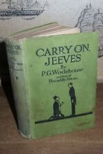 1925 CARRY ON JEEVES BY PG WODEHOUSE BERTIE WOOSTER SHORT STORIES 1ST ED  *