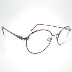 Marchon Autoflex 53 with Flexon Brown Coffee Eyeglasses Frame Round Eyewear M312