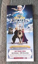 Disney On Ice - Frozen Gatefold Flyer