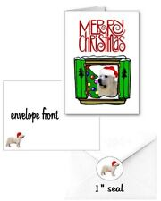 30 Great Pyrenees Christmas cards seals envelopes 90 pieces Window design