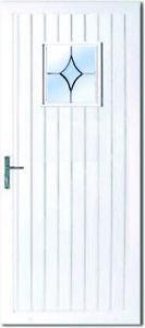 PVC uPVC White Full Door Panel 20mm 24mm 28mm 790mm x 1930mm Roe BL06