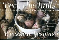 Deck the Halls - 6 Strawberry Patterns - Blackbird Designs New