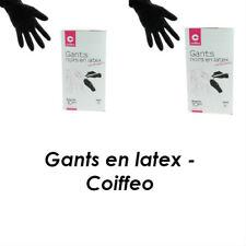 Gants noirs en latex réutilisable - Coiffeo