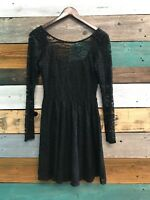 Millau Lace Dress With Spikes On Shoulder Womens Size Small Black NWT MSRP$172
