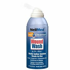 6 Pack NeilMed Neil Cleanse Wound Wash First Aid Sterile Saline Solution 6oz Eac