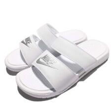 ladies white nike sliders