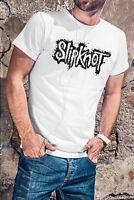 Slipknot Men White T-shirt Heavy Metal Band Tee Rock Shirt STONE SOUR